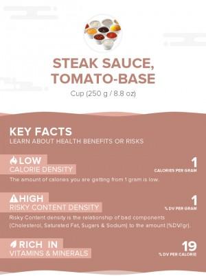 Steak sauce, tomato-base