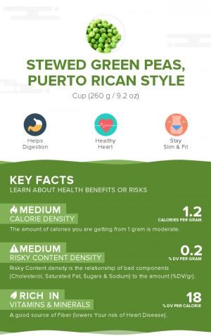 Stewed green peas, Puerto Rican style