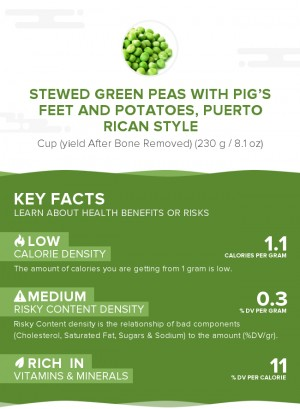 Stewed green peas with pig's feet and potatoes, Puerto Rican style