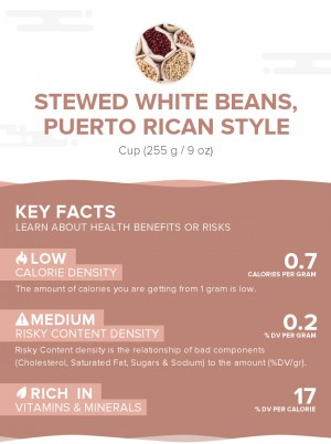 Stewed white beans, Puerto Rican style
