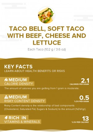 TACO BELL, Soft Taco with beef, cheese and lettuce