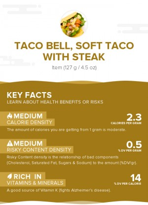 TACO BELL, Soft Taco with steak
