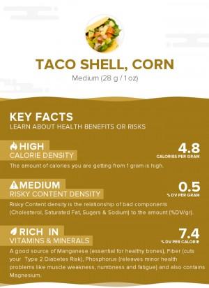 Taco shell, corn