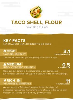 Taco shell, flour