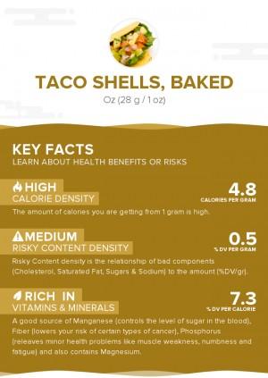 Taco shells, baked
