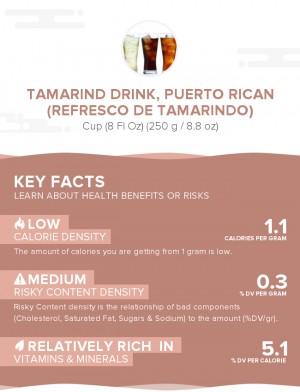 Tamarind drink, Puerto Rican (Refresco de tamarindo)