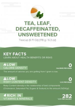 Tea, leaf, decaffeinated, unsweetened