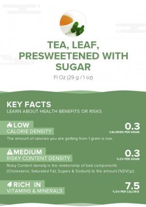 Tea, leaf, presweetened with sugar