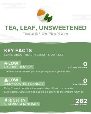 Tea, leaf, unsweetened