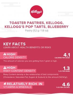Toaster Pastries, KELLOGG, KELLOGG'S POP TARTS, Blueberry