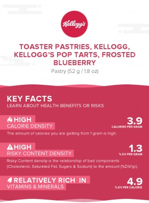 Toaster Pastries, KELLOGG, KELLOGG'S POP TARTS, Frosted blueberry