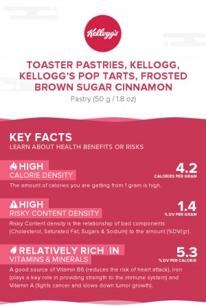 Toaster Pastries, KELLOGG, KELLOGG'S POP TARTS, Frosted brown sugar cinnamon