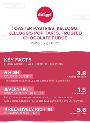 Toaster Pastries, KELLOGG, KELLOGG'S POP TARTS, Frosted chocolate fudge