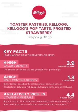 Toaster Pastries, KELLOGG, KELLOGG'S POP TARTS, Frosted strawberry