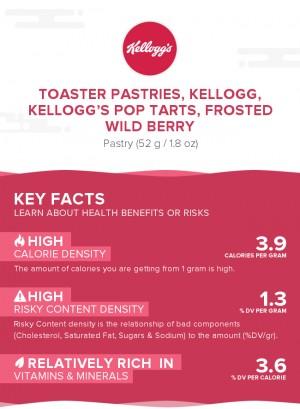 Toaster Pastries, KELLOGG, KELLOGG'S POP TARTS, Frosted wild berry