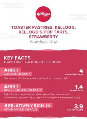 Toaster Pastries, KELLOGG, KELLOGG'S POP TARTS, Strawberry