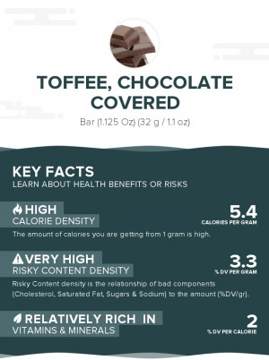 Toffee, chocolate covered
