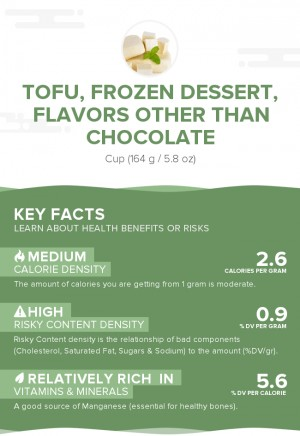 Tofu, frozen dessert, flavors other than chocolate