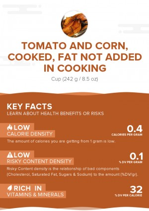 Tomato and corn, cooked, fat not added in cooking