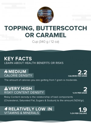 Topping, butterscotch or caramel