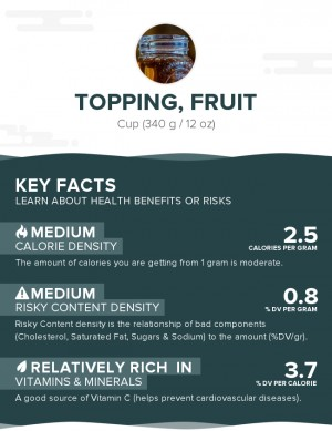 Topping, fruit