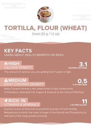 Tortilla, flour (wheat)
