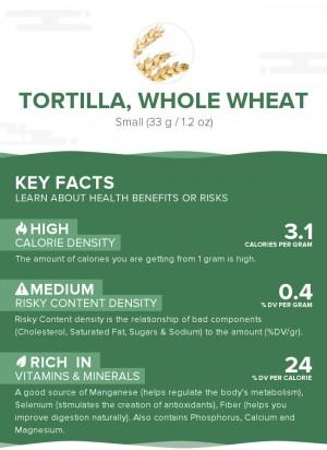 Tortilla, whole wheat