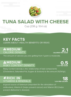 Tuna salad with cheese