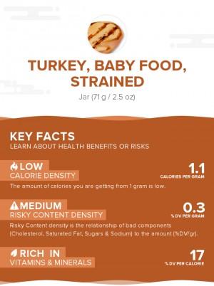 Turkey, baby food, strained