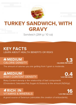 Turkey sandwich, with gravy