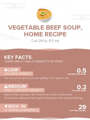 Vegetable beef soup, home recipe