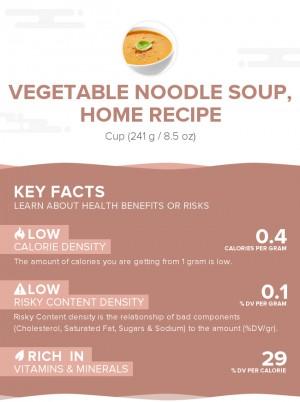 Vegetable noodle soup, home recipe