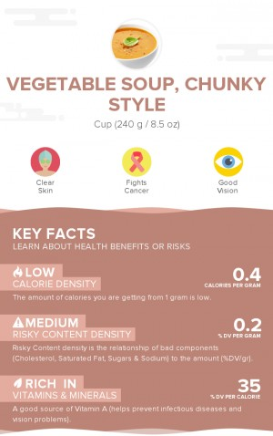 Vegetable soup, chunky style