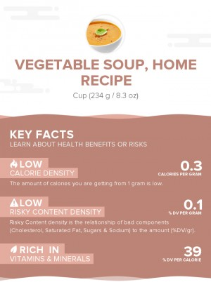 Vegetable soup, home recipe