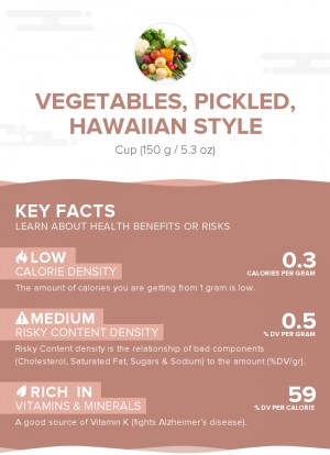 Vegetables, pickled, Hawaiian style