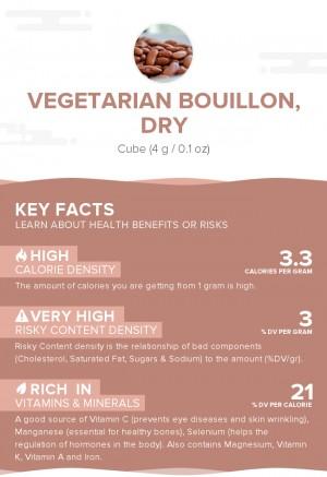 Vegetarian bouillon, dry