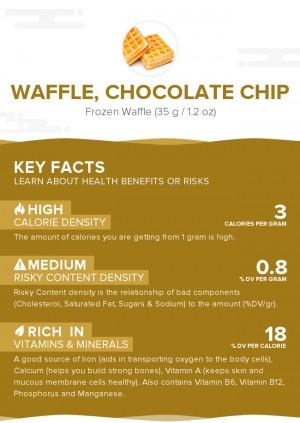 Waffle, chocolate chip