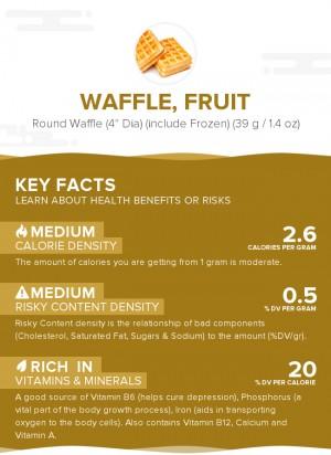Waffle, fruit