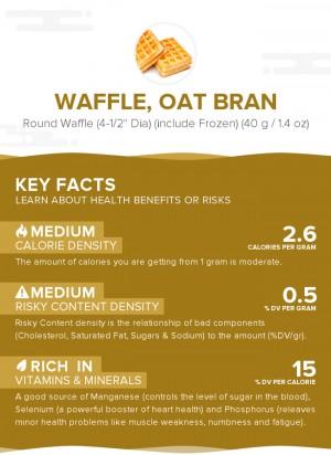 Waffle, oat bran