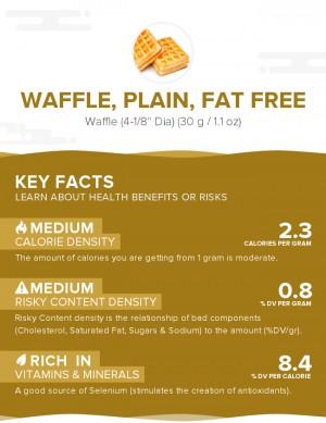 Waffle, plain, fat free