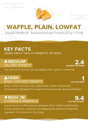 Waffle, plain, lowfat