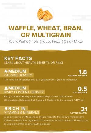 Waffle, wheat, bran, or multigrain