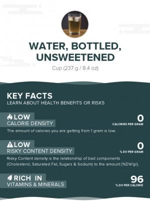 Water, bottled, unsweetened