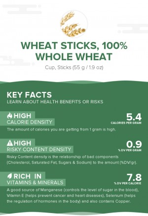 Wheat sticks, 100% whole wheat