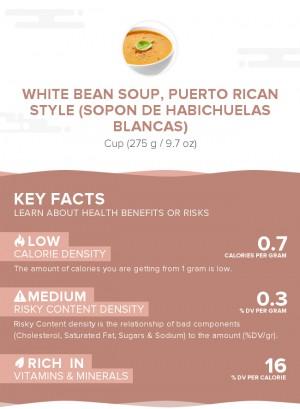 White bean soup, Puerto Rican style (Sopon de habichuelas blancas)