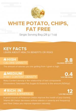 White potato, chips, fat free