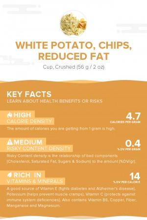 White potato, chips, reduced fat