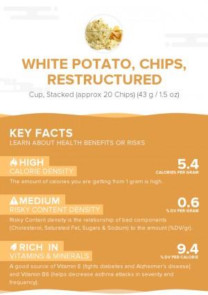White potato, chips, restructured