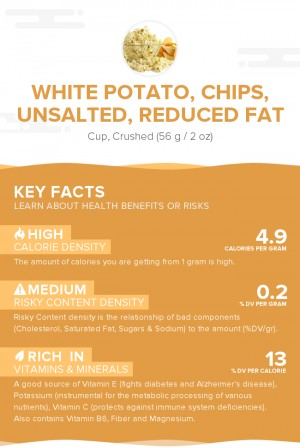 White potato, chips, unsalted, reduced fat