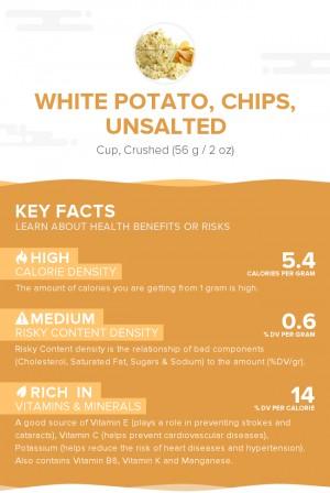 White potato, chips, unsalted